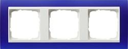 Рамка 3-пост для центральных вставок белого цвета, Gira Event Синий - фото 6709