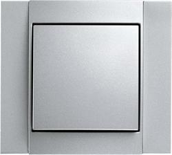 Рамкa 1-пост, Berker B.1 цвет: алюминий, матовый 10111404 - фото 9184