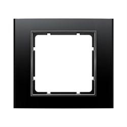 Рамкa 1-пост, Berker B.3, Материал: алюминий цвет: Чёрный/антрацитовый 10113005 - фото 9187