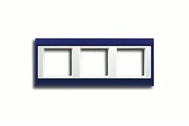 Рамка тройная Jung A plus Синий/белый ap583BLWW