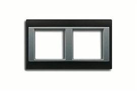 Рамка двойная, для горизонтального/вертикального монтажа Jung A plus Антрацит/алюминий ap582antal
