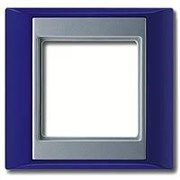 Рамка одинарная Jung A plus Синий/алюминий ap581BLAL