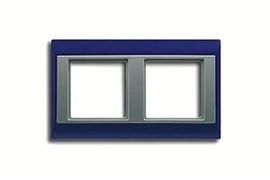 Рамка двойная, для горизонтального/вертикального монтажа Jung A plus Синий/алюминий ap582BLAL