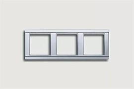 Рамка тройная, для горизонтального/вертикального монтажа Jung A500 Алюминий a583al