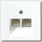 Накладка 2-ой наклонной ТЛФ/комп розетки Jung A500 Белый A569-2BFPLUAWW