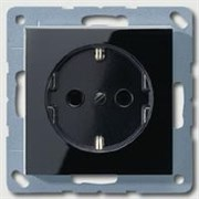 Розетка с заземляющими контактами 16 А / 250 В Jung A500 Антрацит A1520SW