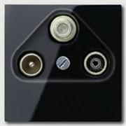 Накладка TV-SAT-FM розетки Jung A500 Антрацит A561PLSATSW