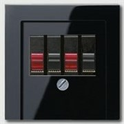 Накладка розетки ТАЕ, моно/стерео-аудиорозетки Jung A500 Антрацит A569PLTSW
