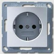 A500 Розетка 2К+З 16А 250В~, алюм. (A1520AL)