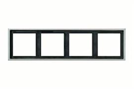 Рамка четверная, для горизонтального/вертикального монтажа Jung LS Aluminium Алюминий al2984