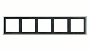 Рамка пятерная, для горизонтального/вертикального монтажа Jung LS Aluminium Алюминий al2985