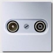 Накладка TV-FM розетки Jung LS Aluminium Алюминий al2990tv