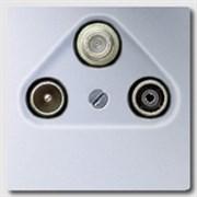 Накладка TV-SAT-FM розетки Jung LS Aluminium Алюминий al2990sat