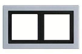 Рамка двойная для горизонтального/вертикального монтажа Jung LS design Алюминий ALD2982