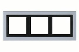 Рамка тройная для горизонтального/вертикального монтажа Jung LS design Алюминий ALD2983