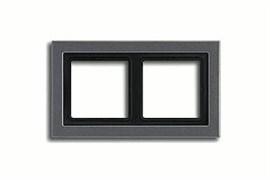 Рамка двойная для горизонтального/вертикального монтажа Jung LS design Антрацит ALD2982AN