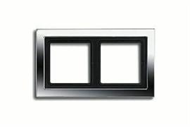 Рамка двойная для горизонтального/вертикального монтажа Jung LS design Хром GCRD2982