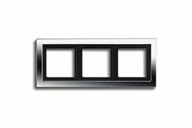 Рамка тройная для горизонтального/вертикального монтажа Jung LS design Хром GCRD2983