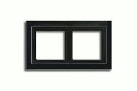 Рамка двойная для горизонтального/вертикального монтажа Jung LS design Черный глянцевый LSD982SW