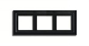 Рамка тройная для горизонтального/вертикального монтажа Jung LS design Черный глянцевый LSD983SW