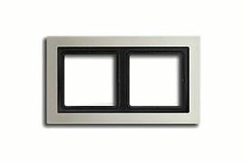 Рамка двойная для горизонтального/вертикального монтажа Jung LS design Сталь ESD2982