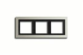 Рамка тройная для горизонтального/вертикального монтажа Jung LS design Сталь ESD2983
