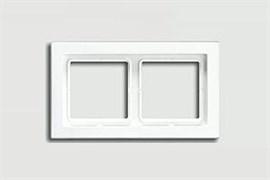 Рамка двойная для горизонтального/вертикального монтажа Jung LS design Альпийский белый LSD982WW