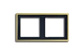 Рамка двойная, для горизонтального/вертикального монтажа Jung LS Gold Золото go2982