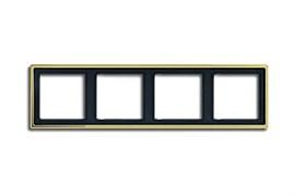 Рамка четверная, для горизонтального/вертикального монтажа Jung LS Gold Золото go2984