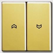 Выключатель управления жалюзи кнопочный, 10 А / 250 В~ Jung LS Gold Золото go2995p