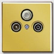 Накладка TV-FM-SAT розетки Jung LS Gold Золото go2990sat