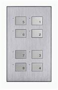 8-клавишная панель KNX, австралийский/US стандарт, алюминий