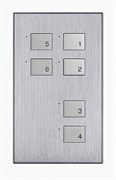 6-клавишная панель KNX, австралийский/US стандарт, алюминий
