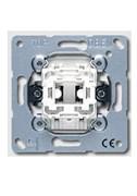 Механизм выключателя одноклавишного, 10 А / 250 В Jung A500 Белый 501u