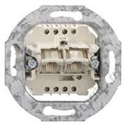 Механизм розетки телефонной двойной RJ11 Jung A500 EPUAE8-8UPO