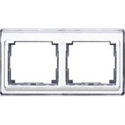 Рамка двойная для горизонтального монтажа Jung SL 500  Серебро sl5820si