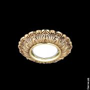 Светильник Gauss Antique CA049 Круг. Золото/Черный Gu5.3 1/40