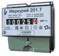Меркурий Электросчетчик 201.7 на DIN-рейку 5-60А/220В 1Ф 1т. Механика