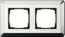 Рамка Gira ClassiX двухместная Хром-кремовый 0212643