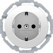 Штепсельная розетка SCHUKO, Berker R.Classic цвет: полярная белизна 47452089