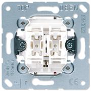 Механизм выключателя управления жалюзи клавишный, 10 А / 250 В Jung A500 Белый 509VU