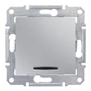 Sedna Алюминий Выключатель 1-клавишный с индикацией 10А (сх.1)