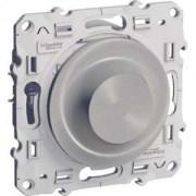 Odace Алюминий Светорегулятор LED поворотно-нажимной, универсальный 4-400Вт