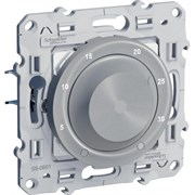 Odace Алюминий Термостат электронный комнатный 10А с датчиком тёплого пола