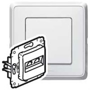 Legrand Cariva Бел Блок Выключатель 1-клав + Выключатель 2-х клав + Розетка с/з