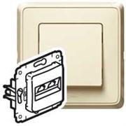 Legrand Cariva Крем Блок Выключатель 1-клав + Выключатель 2-х клав + Розетка с/з
