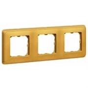 Legrand Cariva Матовое золото Рамка 3-ая