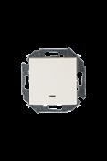 Simon 15 Бежевый Выключатель кнопочный с подсветкой, 16А, 250В, винт.зажим