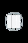 Simon 15 Белый Выключатель 3-клавишный, 10А, 250В, винт.зажим