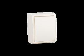 Simon 15 Aqua Бежевый Выключатель 1-клавишный с подсветкой наружный, IP54